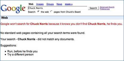Why 'Chuck Norris' can't be found on Google.