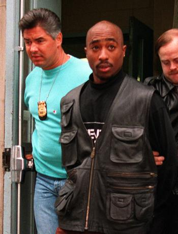 2pac arrested